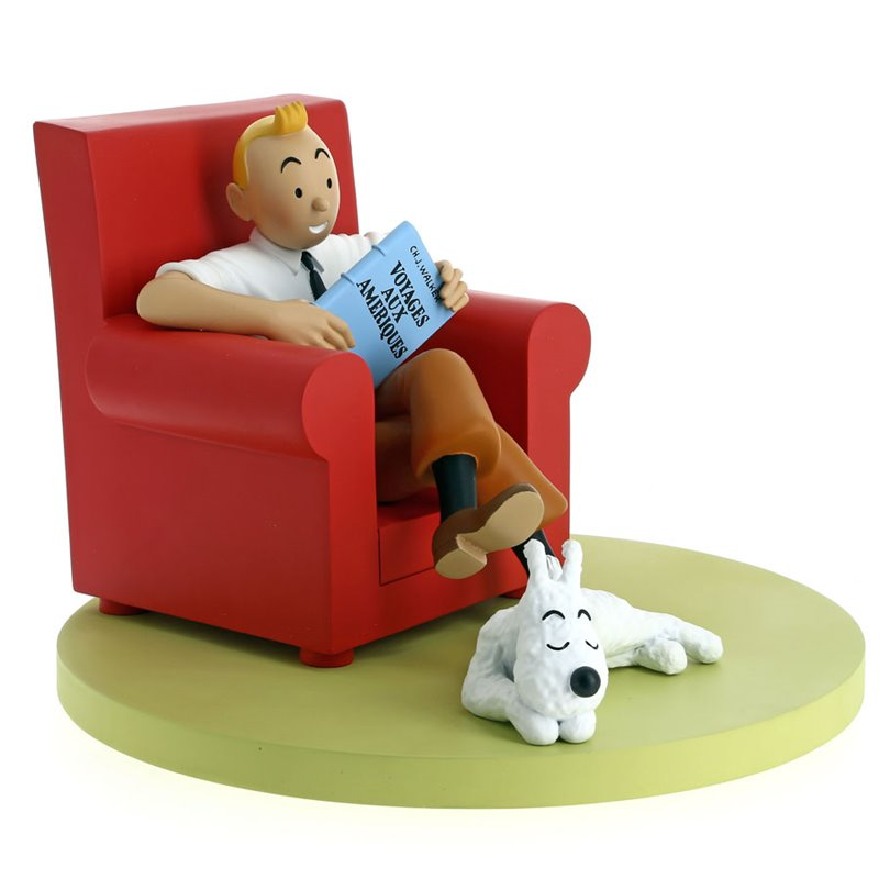 RESINE - LES ICONES - TINTIN FAUTEUIL