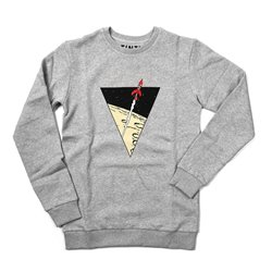 SWEAT TRIANGLE FUSEE GRIS CLAIR 090