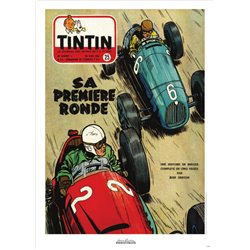 AFFICHE MICHEL VAILLANT & LE JOURNAL TINTIN 1953 N°25