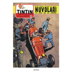 AFFICHE MICHEL VAILLANT & LE JOURNAL TINTIN 1954 N°40