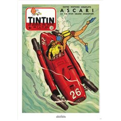 AFFICHE MICHEL VAILLANT & LE JOURNAL TINTIN 1955 N°32