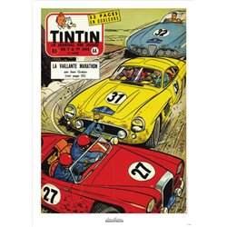 AFFICHE MICHEL VAILLANT & LE JOURNAL TINTIN 1957 N°44