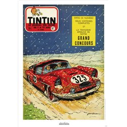 AFFICHE MICHEL VAILLANT & LE JOURNAL TINTIN 1957 N°47