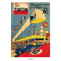 AFFICHE MICHEL VAILLANT & LE JOURNAL TINTIN 1958 N°01