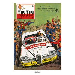 AFFICHE MICHEL VAILLANT & LE JOURNAL TINTIN 1958 N°06