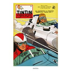 AFFICHE MICHEL VAILLANT & LE JOURNAL TINTIN 1958 N°26