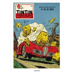 AFFICHE MICHEL VAILLANT & LE JOURNAL TINTIN 1958 N°47