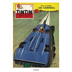 AFFICHE MICHEL VAILLANT & LE JOURNAL TINTIN 1959 N°04