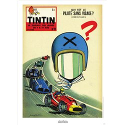 AFFICHE MICHEL VAILLANT & LE JOURNAL TINTIN 1959 N°19
