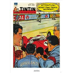 AFFICHE MICHEL VAILLANT & LE JOURNAL TINTIN 1961 N°20