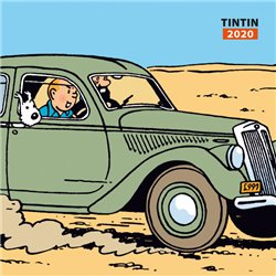 CALENDRIER MURAL TINTIN VOITURES 2020