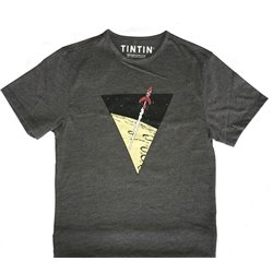 T-SHIRT ENFANT TRIANGLE FUSEE GRIS 094
