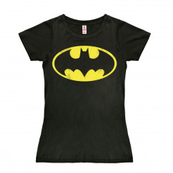 DC Comics - Super-Héro - Batman Logo T-Shirt Dame - noir
