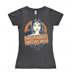 DC Comics - Wonder Woman Portrait T-Shirt Dame - gris foncé