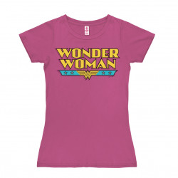 DC Comics - Wonder Woman Logo T-Shirt Dame - rose