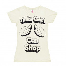 This Girl Can Shop T-Shirt Dame - blanc cassé