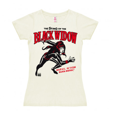Marvel Comics - Super-Héroïne - Black Widow T-Shirt Dame - blanc cassé