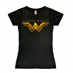 DC Comics - Super-Héroïne - Film - Wonder Woman Movie Logo T-Shirt Dame - noir