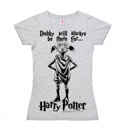 Harry Potter - Elfe - Dobby Will Always Be T-Shirt Dame - gris