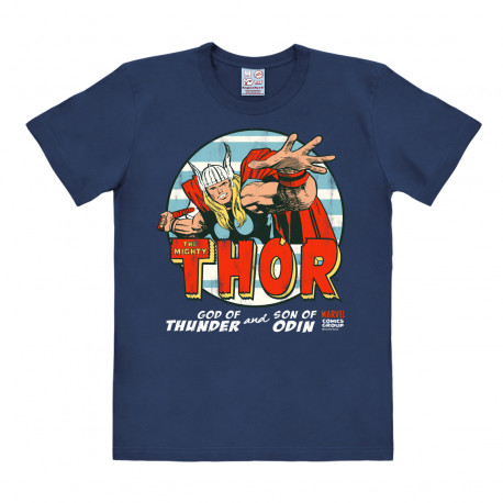 T-Shirt Thor - Marvel Comics - God Of Thunle - Rethals T-Shirt - bleu foncé