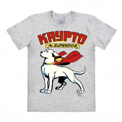 LOGOSHIRT - T-Shirt Homme Krypto the Superdog - DC Comics - gris
