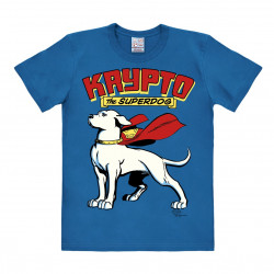 LOGOSHIRT - T-Shirt Homme Krypto the Superdog - DC Comics - bleu