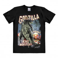 LOGOSHIRT - T-Shirt Homme Godzilla - King of the Monster - noir