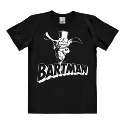 T-Shirt Bart Simpson - The Simpsons - Bartman - Rethals Shirt - noir