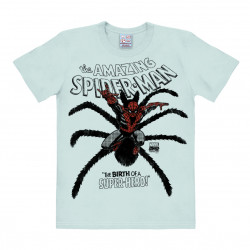 T-Shirt Spile-Man - The Birth of the Super-Hero - Marvel Comics - Spile-Man - The Birth - Rethals Shirt - bleu brillant