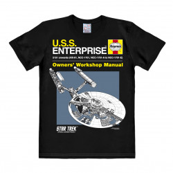 Star Trek - Vaisseau Enterprise - Haynes Manual T-Shirt Homme - noir