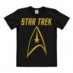Star Trek - USS Enterprise Logo - GOLD T-Shirt Homme - noir
