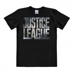 DC Comics - Super-Héros-Team - Film - Justice League Movie Logo T-Shirt Homme - noir