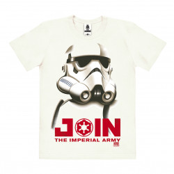 Film - Star Wars - Stormtrooper - Imperiale Armee T-Shirt Organic Homme - Coton bio - blanc cassé