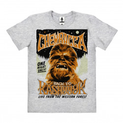 Star Wars - Wookiee - Chewbacca - Back To Kashyyyk T-Shirt Organic Homme - Coton bio - gris