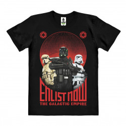 Star Wars - Rogue One - Enlist Now T-Shirt Organic Homme - Coton bio - noir