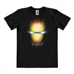 Marvel Comics - Iron Man Face T-Shirt Organic Homme - noir - Coton bio