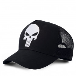 Marvel Comics - Super-Héro - Punisher Logo Kinla Trucker Casquette - Kappe - brodée - noir