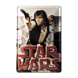 Star Wars - Han Solo Retro - Plaque Métal Vintage Film - 20x30