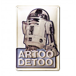 Star Wars - Artoo Detoo - R2-D2 Retro - Plaque Métal Vintage Film - 20x30