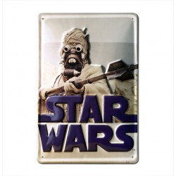 Star Wars - Sand People - Tusken Railes Retro - Plaque Métal Vintage Film - 20x30