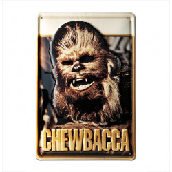 Star Wars - Chewbacca Retro - Plaque Métal Vintage Film - 20x30