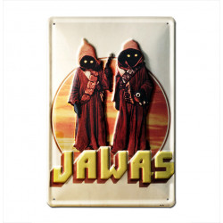 Star Wars - Jawas Retro - Plaque Métal Vintage Film - 20x30