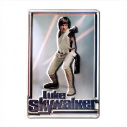 Star Wars - Luke Skywalker Retro - Plaque Métal Vintage Film - 20x30