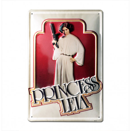 Star Wars - Princesse Leia Retro - Plaque Métal Vintage Film - 20x30