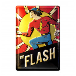DC Comics - Flash Retro - Plaque Métal Vintage Comic SuperHéroen - 20x30 -Design Original sous Licence