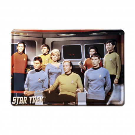 Star Trek - USS Enterprise Crew Retro - Plaque Métal Vintage Film - 30x20