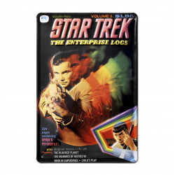 Star Trek - The Enterprise Logs Retro - Plaque Métal Vintage Film - 20x30
