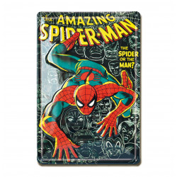 Marvel Comics - The Amazing Spile-Man Retro - Plaque Métal Vintage Comic SuperHéroen - 20x30