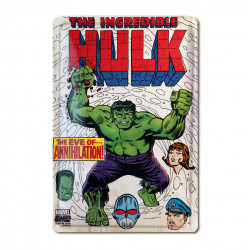 Marvel Comics - The Incredible Hulk Journal Retro - Plaque Métal Vintage Comic SuperHéroen - 20x30
