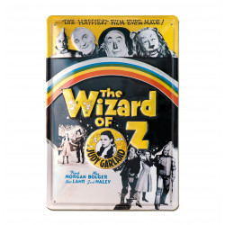 Le Magicien d'Oz - Wizard of Oz Journal Retro - Plaque Métal Vintage Film - 20x30